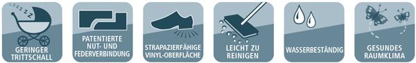 Geringer Trittschal - Nut -Federverbindung - Strapazierfähig - Leicht zu Reinigen - Wasserbständig